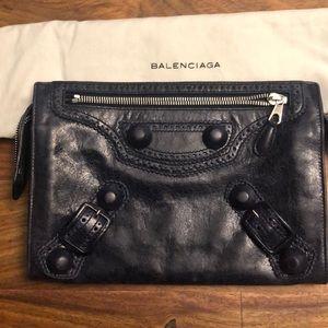 Balenciaga Travel Wallet in Royal Blue
